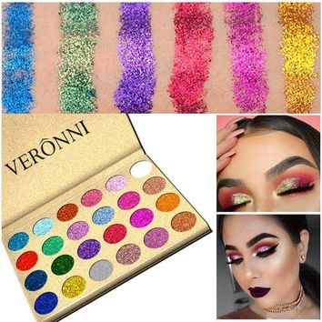 Glitter Shimmer Eye Shadow Eyeshadow Palette Makeup Powder Flexibility Lasting