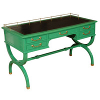 1STDIBS.COM - Hollywood At Home - Vintage Lather top desk