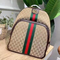 Gucci Fashion Women Men Leather School Bag Bookbag Backpack Daypack