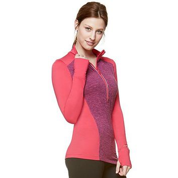 Hottotties Uptown Girl Colorblock Quarter-Zip Top - Women's