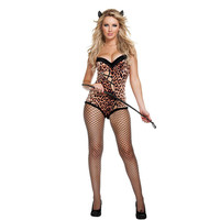 Games Club Sexy Leopard Costume Anime Halloween Party Uniform [8978896135]