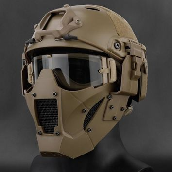 Hudlum Tactical- Airsoft, Paintball half face MASK for fast Type helmet