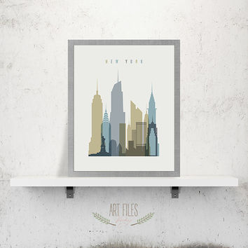 New York Poster Print, Printable Poster Wall Art, Travel city Poster, typography poster art, New York digital poster print, INSTANT DOWNLOAD