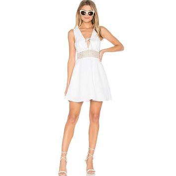Summer western style fashion sexy hollow out mesh sleeveless woman's Casual dress