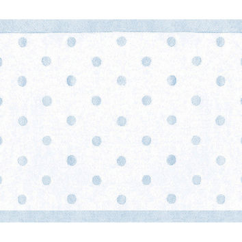 Polka Dot Rug, Light Blue, Area Rugs