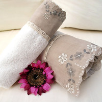 Handmade Cotton HAND Face TOWEL set Wash Towel Special Design In extra qualities additionally to our sensitiveness