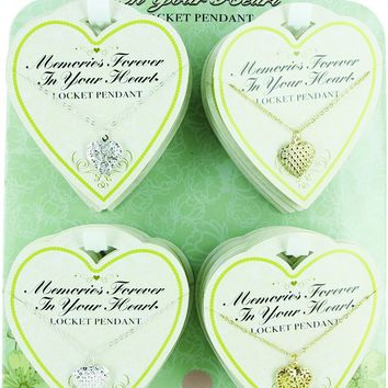 Locket Memories Forever in Your Heart - Lead Safe - CASE OF 72