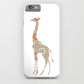GIRAFFE SILHOUETTE WITH PATTERN iPhone & iPod Case by deificus Art