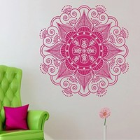 Wall Decals Mandala Yoga Namaste Om Ornament Indian Geometric Moroccan Pattern Decal Vinyl Sticker Home Art Bedroom Home Decor Room Ms470