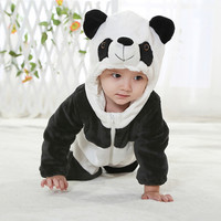 Minion Hello kitty baby clothes One-Pieces for newborn Cartoon Animal Jumpsuit Baby Girl Rompers Flannel Boy clothes costume