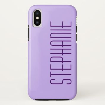 iPhone X Case, Purple, Personalized, Sturdy iPhone X Case