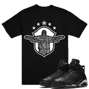 ONETOW REDEEMER-Jordan BLACK CAT 6's Sneaker Match T-Shirt Tees, Nike Retro