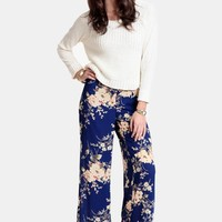 Blooming Iris Wide Leg Pants