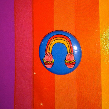 "Rainbow Burgers 1"" Pinback Button"