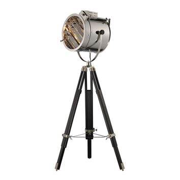 Curzon Adjustable Floor Lamp in Chrome and Black Chrome,Black