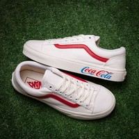 Vans x Coca Cola Old Skool Canvas Print Flats Sneakers Sport Shoes