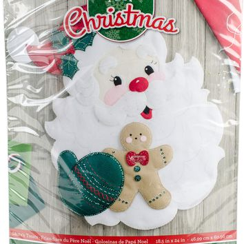 "Santa's Treats Bucilla Felt Wall Hanging Applique Kit 18""X22"""