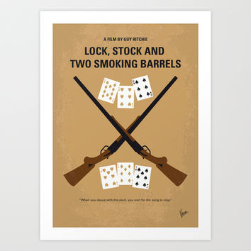 No441 My Lock, Stock and Two Smoking Barrels minimal movie poster Art Print by Chungkong