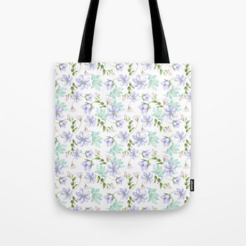 purple spring flowers Tote Bag by sylviacookphotography