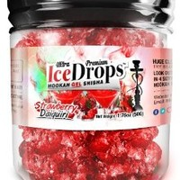 StrawBerry Daiquiri 50G Ultra Premium Beamer Ice Drops Hookah Shisha Smoking Gel. Each bowl lasts 2-4 Hours! USA Made, Huge Clouds, Amazing Taste! Better Taste & Clouds than Tobacco!