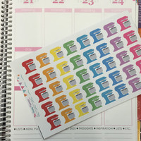 FREE SHIPPING D12 Kitchen Aid stand mixer baking stickers for Erin Condren Life Planner/Plum Paper Planner - set of 40