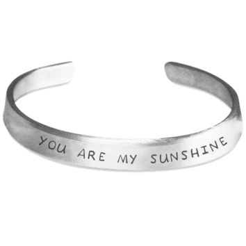 You Are My Sunshine- Stamped Bracelet