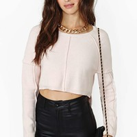 Nasty Gal Stitch Up Crop Sweater