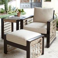 Marina Outdoor Lounge Chair & Ottoman