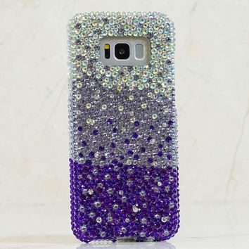 AB Crystals Fades to Dark Purple Design (style 914)