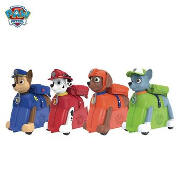 Paw Patrol Puppy Patrol Dog removable bag Backpack Riding box  Action Figures Patrulla Canina Juguetes kids toys Genuine