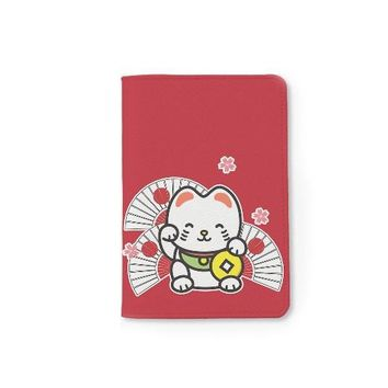 Lucky Cat Maneki Passport Holder
