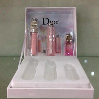 Perfect Dior Women Lip Balm Lipstick Perfume Set Three Piece