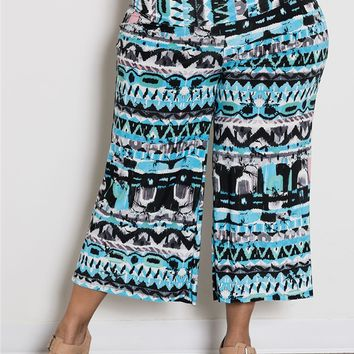 Plus Size Bottoms | Printed Gaucho Pants | Swakdesigns.com