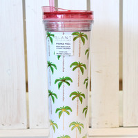 Palms Pattern Tall Tumbler {17oz}