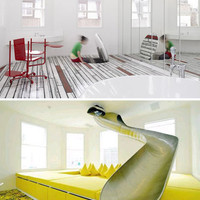 Inner Child: Colorful Home has Trap Doors & Secret Slides