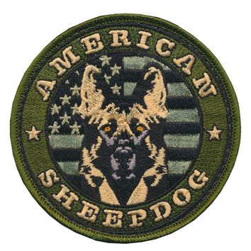 Tactical USA Flag American Sheepdog Embroidered Morale Patch