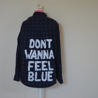 "Marina And The Diamonds ""Blue"" Vintage Flannel"