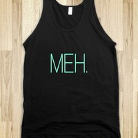 Meh Tiffany Turquoise Typography - Awesome fun #$!!*&