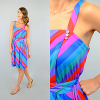 80's STRIPED Wrap Sundress