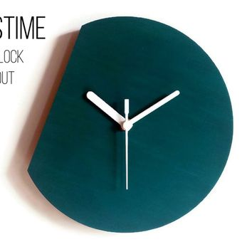 LOSTIME Minimalist and Modern Wood Wall Clock without Time