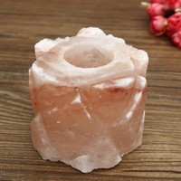 Himalayan Natural Crystal Rock Salt Lamp Candle Holder Container Night Tea Light Air Purifier For Home Decor Ornament