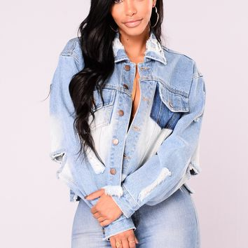 Victoria Crop Denim Jacket - Medium