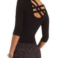 Crisscross Back Crop Top by Charlotte Russe