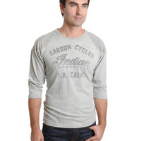 Lucky Brand Indian Motorcycles Baseball T-Shirt