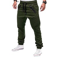 Heflashor brand Men's Casual Pants Joggers Solid Multi-pocket Drawstring Pants Sweatpants 2018 Autumn Zipper Trousers 3XL
