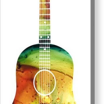Acoustic Guitar - Colorful Abstract Musical Instrument Acrylic Print