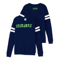 Seattle Seahawks Bling Crewneck Tee