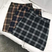 Plaid Wrap Skirt (3 colours)