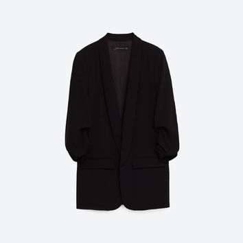 CREPE BLAZER - OUTERWEAR-WOMAN-COLLECTION SS/17 | ZARA United Kingdom