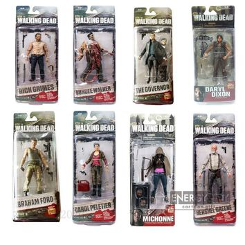 The Walking Dead Daryl Dixon Hershel Greene Bungee Walker Rick Grimes Andrew Lincoln Michonne Knife Female Peletier pvc figure